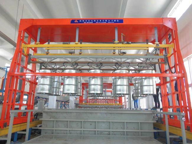 10工位油桶挂镀锌自动线