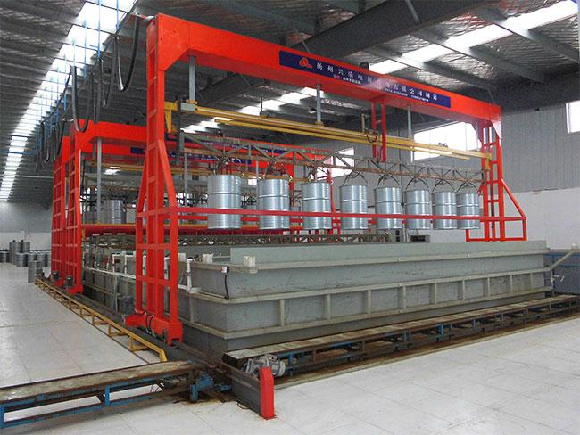 8工位油桶挂镀锌自动生产线