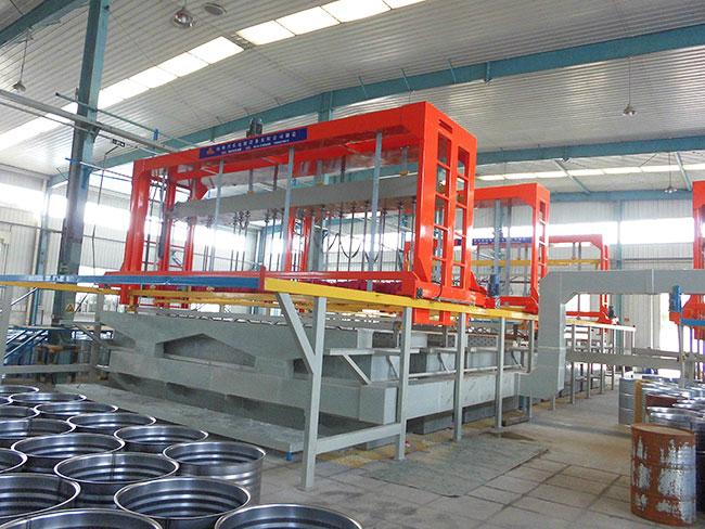 6工位油桶挂镀锌自动生产线