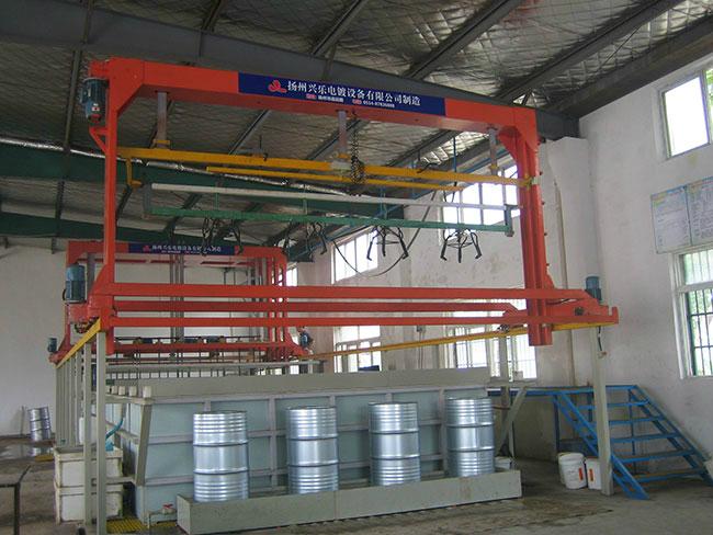 4工位油桶挂镀锌自动生产线